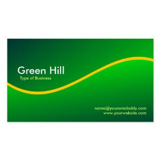 Colina verde 6 tarjetas de visita
