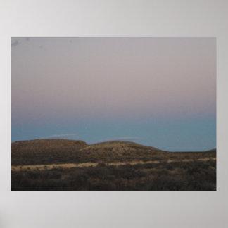 Colinas bonitas en Tejas/New México Póster