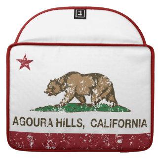 Colinas de Agoura de la bandera del estado de Cali Fundas Para Macbook Pro