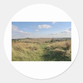 Colinas de Hednesford, Staffordshire Pegatina Redonda
