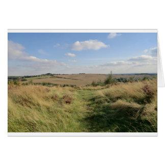 Colinas de Hednesford, Staffordshire Tarjeta De Felicitación
