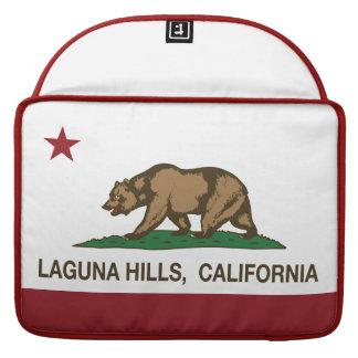 Colinas de Laguna de la bandera del estado de Cali Funda Para Macbooks
