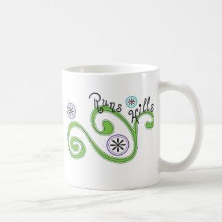 Colinas de los funcionamientos - regalo único del taza de café