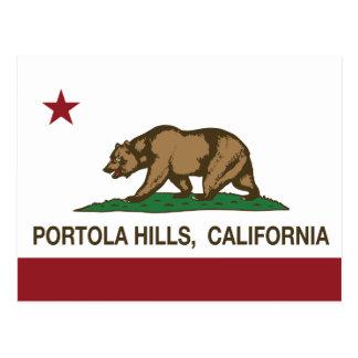 Colinas de Portola de la bandera de la república Postal