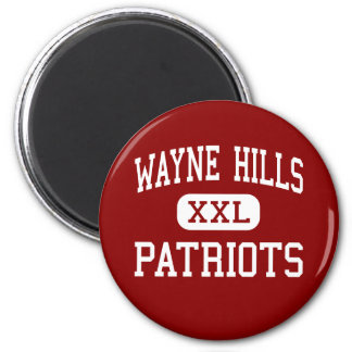 Colinas de Wayne - patriotas - altas - Wayne New J Imán Redondo 5 Cm