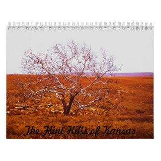 Colinas del pedernal de Kansas Calendario