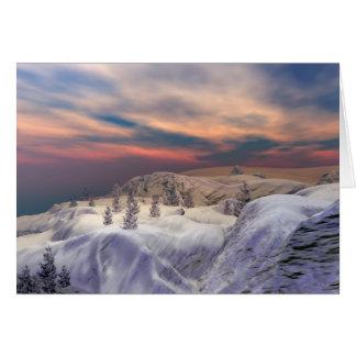 Colinas enfriadas del navidad tarjeta de felicitación