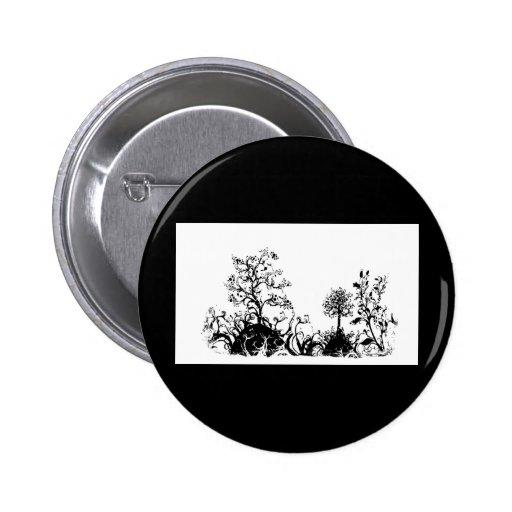 Colinas negras y blancas de la fruta de árboles de pin redondo 5 cm