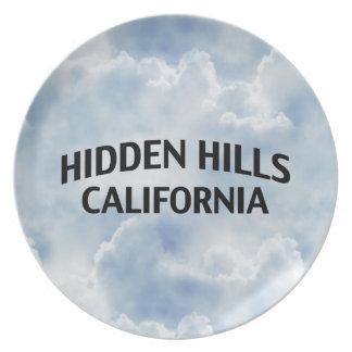 Colinas ocultadas California Plato De Comida