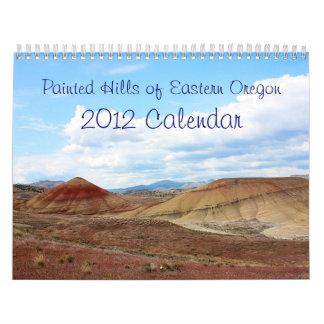 Colinas pintadas del calendario del este de Oregon