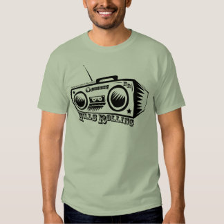 Colinas que ruedan la camiseta con el logotipo de poleras