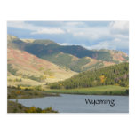 Colinas rojas de la postal de Wyoming