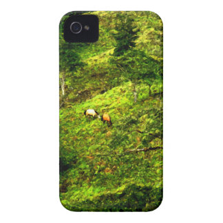 Colinas verdes a lo largo de la manera Case-Mate iPhone 4 cobertura