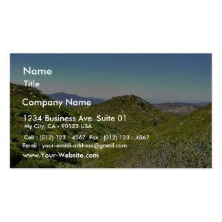 Colinas verdes plantilla de tarjeta personal
