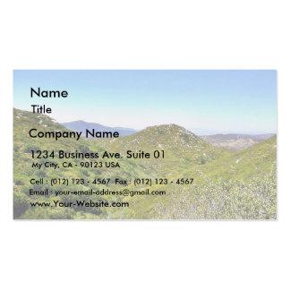 Colinas verdes plantilla de tarjeta de negocio