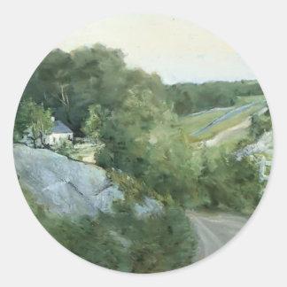Colinas verdes y tierras de labrantío por el verte pegatinas