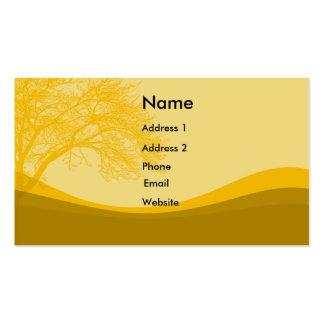 Colinas y árboles tarjetas de visita