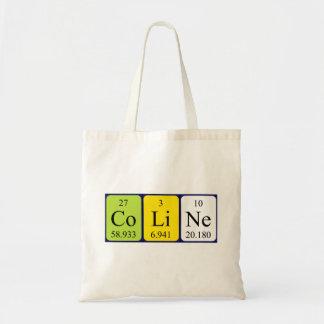 Coline periodic table name tote bag