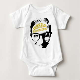 Colin's Face on Everything Retro Logo Design Baby Bodysuit