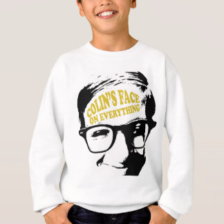 Colin's Face on Everything Retro Logo Design Sweatshirt