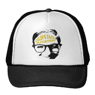 Colin's Face on Everything Retro Logo Design Trucker Hat