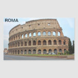 Coliseo de Roma Rectangular Pegatina
