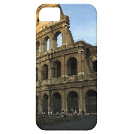 Coliseo en la puesta del sol iPhone 5 Case-Mate cárcasas