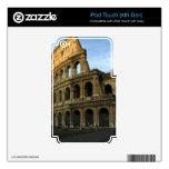 Coliseo en la puesta del sol iPod touch 4G calcomanía