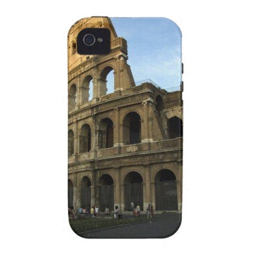 Coliseo en la puesta del sol vibe iPhone 4 funda