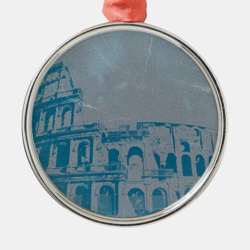 Coliseo en Roma Ornamento Para Arbol De Navidad