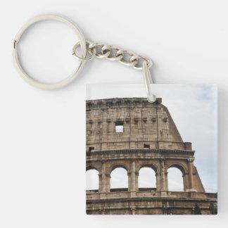 Coliseo Llavero Cuadrado Acrílico A Una Cara