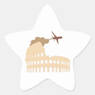 Coliseo Calcomanías Forma De Estrellaes Personalizadas