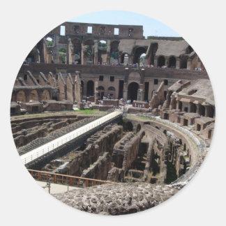 Coliseo Pegatina Redonda