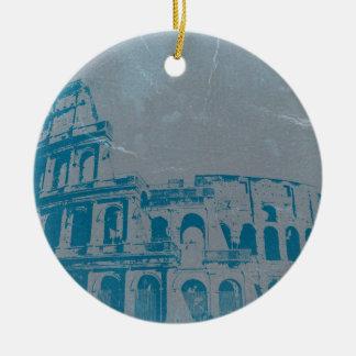Coliseo Roma Ornamento Para Arbol De Navidad