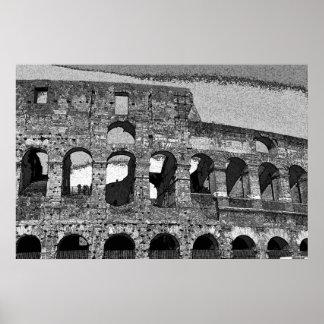 Coliseo romano en lona póster
