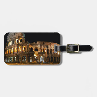 Coliseo romano etiqueta de maleta