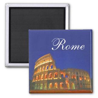 Coliseo romano imán cuadrado