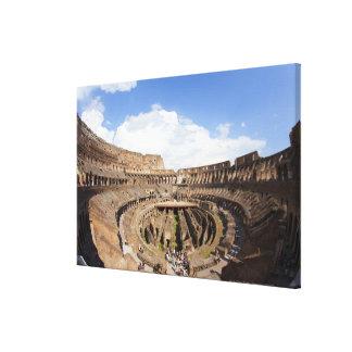 Coliseo romano, opinión de ojo de pescados lienzo envuelto para galerias