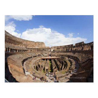 Coliseo romano, opinión de ojo de pescados tarjetas postales