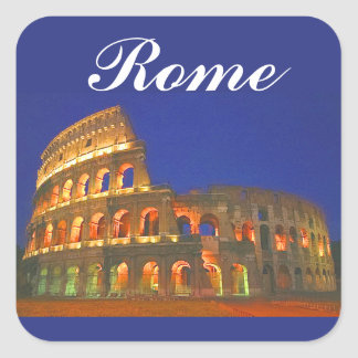 Coliseo romano pegatina cuadrada