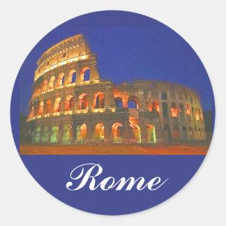 Coliseo romano pegatina redonda