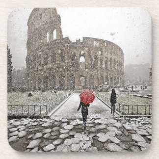 Coliseo romano posavasos de bebidas