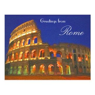 Coliseo romano postal