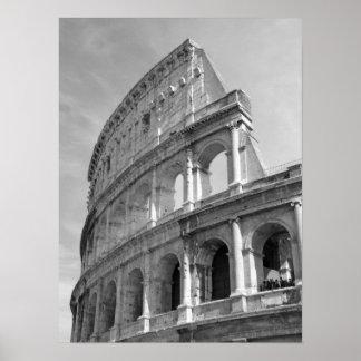 Coliseo romano, Roma Italia Póster