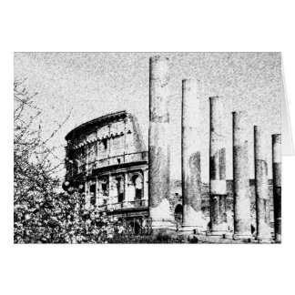 Coliseo romano, Roma Italia Tarjeta De Felicitación