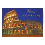 Coliseo romano tarjeta de felicitación