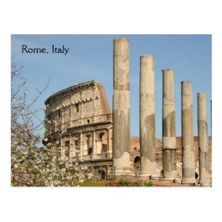 Coliseo romano tarjeta postal