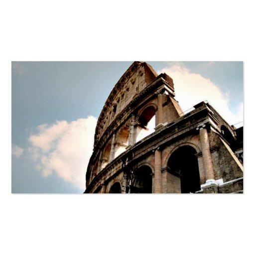 Coliseo romano tarjetas de visita