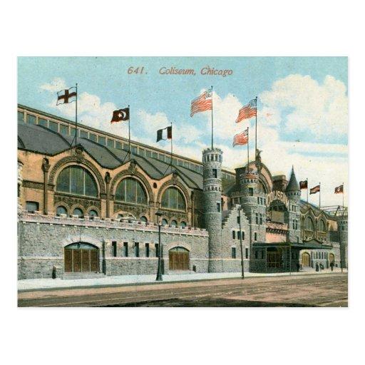 Coliseo, vintage 1914 de Chicago Postales
