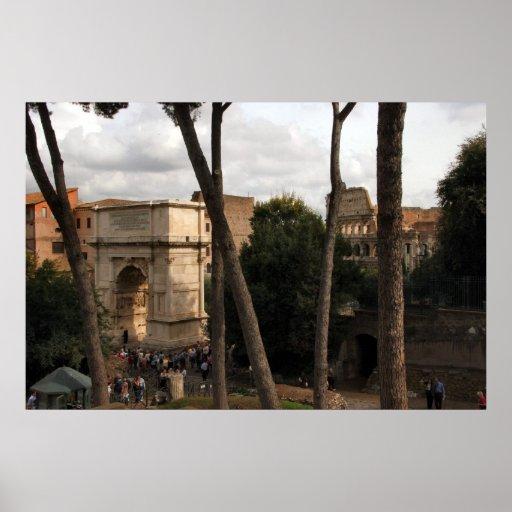 Coliseo y arco de Roma Posters
